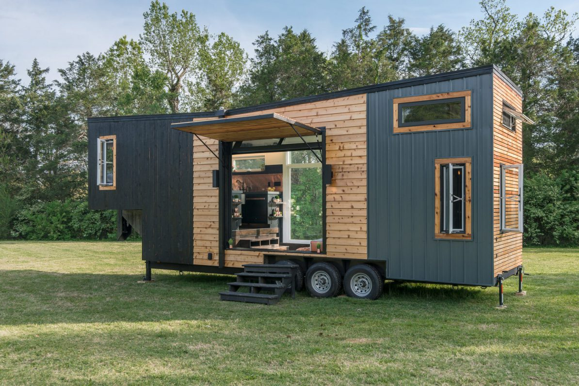 meet tiny house escher from new frontier tiny homes tiny house envy. Black Bedroom Furniture Sets. Home Design Ideas