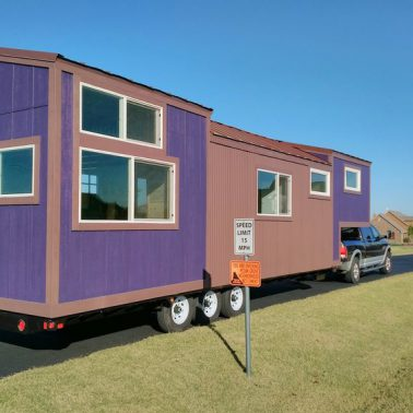 tiny house envy purple monster