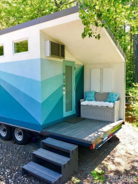 Blue tiny house