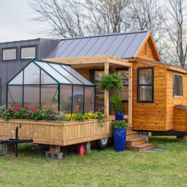 Tiny house with addition